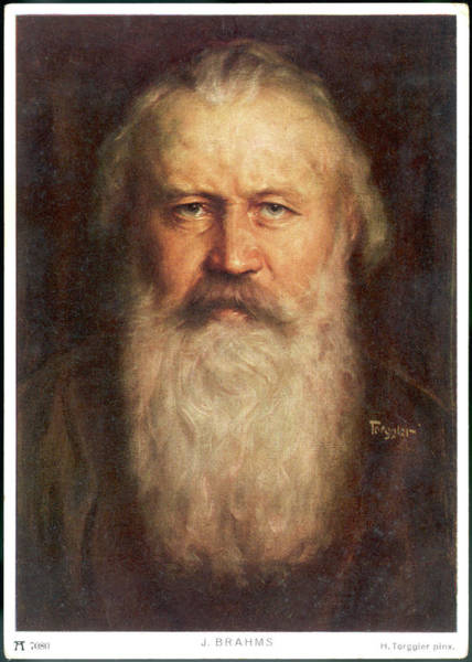 Wall Art - Drawing - Johannes Brahms, German Composer by Mary Evans Picture Library