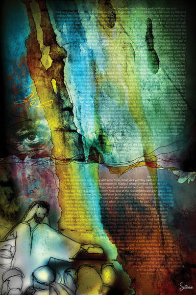 Sacred Heart Digital Art - John 1 by Switchvues Design