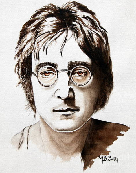 Painting - John Lennon by Maria Barry