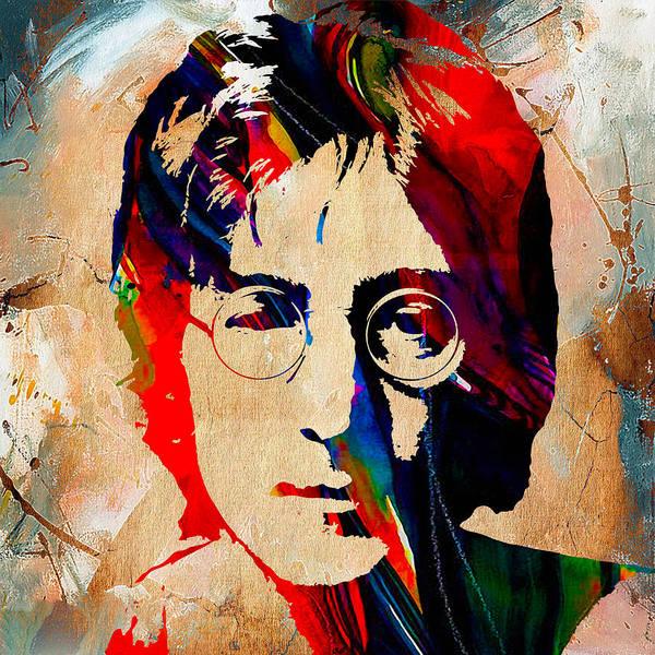 Wall Art - Mixed Media - John Lennon Painting by Marvin Blaine