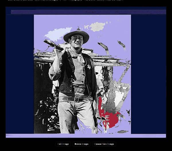 John Wayne Rio Bravo Publicity Photo 1959 Old Tucson Arizona Art Print