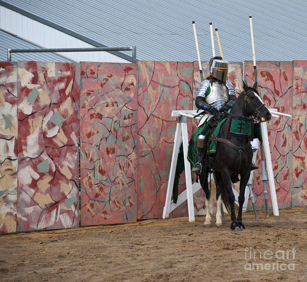 Charge Photograph - Jousting by Juli Scalzi