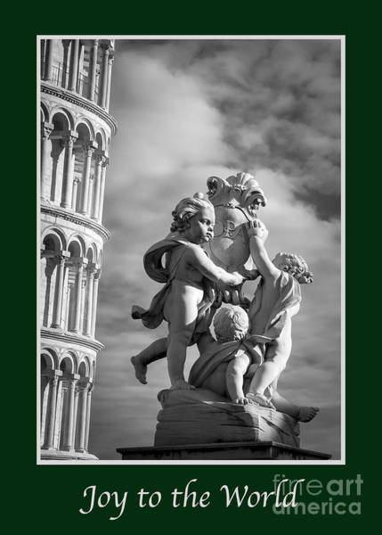 Photograph - Joy To The World With Fountain Of Angels by Prints of Italy