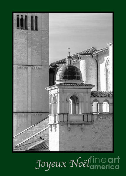 Photograph - Joyeux Noel With Basilica Details by Prints of Italy