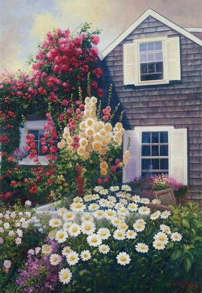 Mooring Painting - Julia's Garden by Julia O'Malley-Keyes