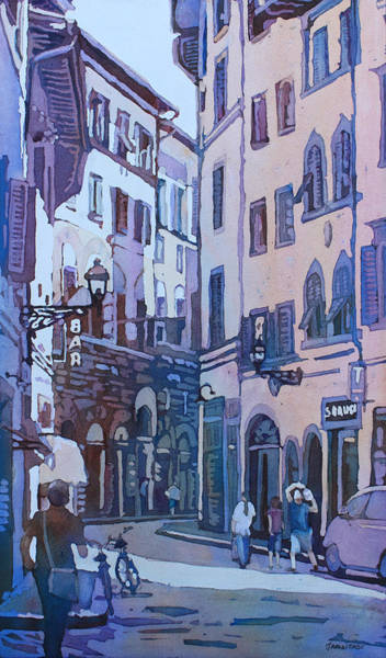 Florence Painting - July In Florence by Jenny Armitage