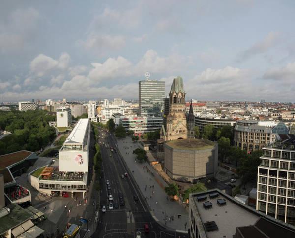 Astoria Photograph - Kaiser Wilhelm Memorial Church Seen by Panoramic Images
