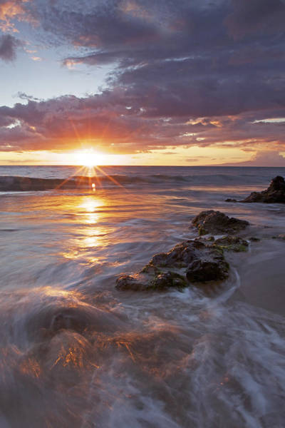 Kihei Photograph - Kamaole Sunset by James Roemmling