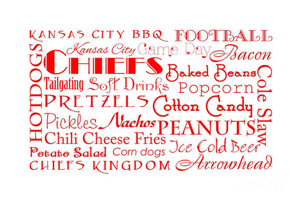 Digital Art - Kansas City Chiefs Game Day Food 4 by Andee Design