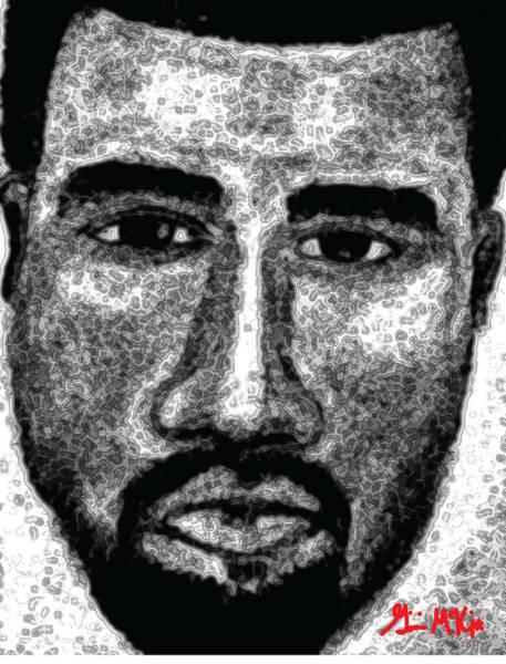 Kanye West Poster Wall Art - Digital Art - Kanye  by Ginnie McKnight