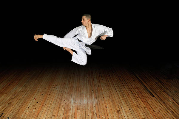 Aerial Combat Photograph - Karate Kick by Gustoimages/science Photo Library