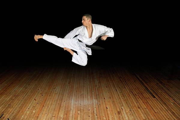 Karate Kick Art Print