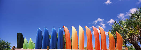 Kayaks Wall Art - Photograph - Kayaks, Gulf Of Mexico, Florida, Usa by Panoramic Images