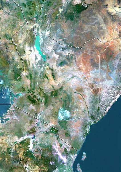 Equatorial Africa Wall Art - Photograph - Kenya by Planetobserver/science Photo Library