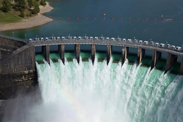 Wall Art - Photograph - Kerr Dam Releasing Water by Chuck Haney