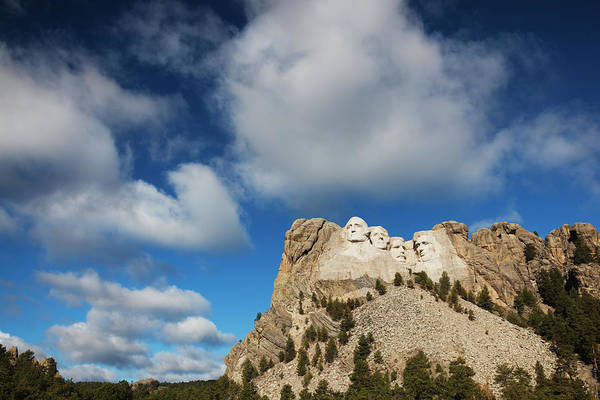 Rushmore Photograph - Keystone, South Dakota, Exterior View by Walter Bibikow