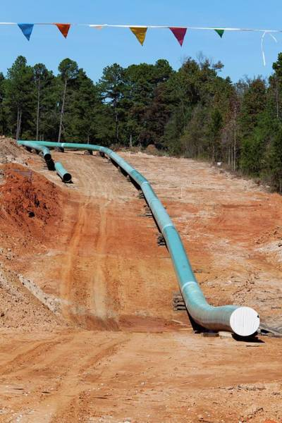 Controversial Photograph - Keystone Xl Pipeline Construction by Jim West
