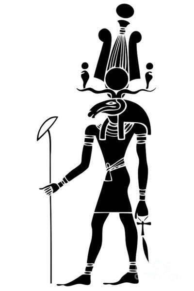 Wall Art - Digital Art - Khensu - God Of Ancient Egypt by Michal Boubin