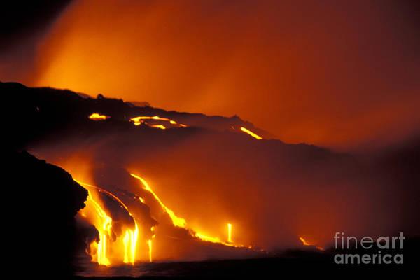 Photograph - Kilauea Volcano, 1991 by Mark Newman