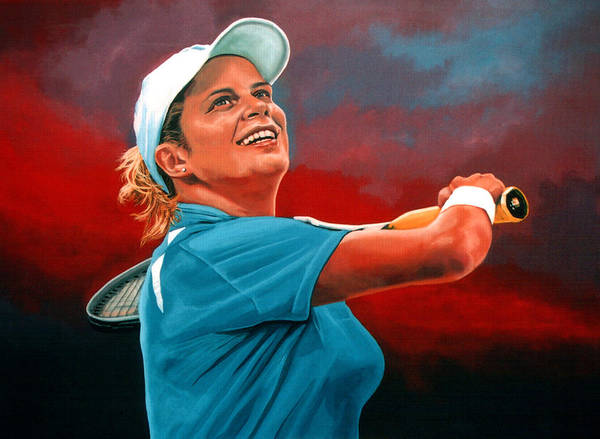 U S Painting - Kim Clijsters by Paul Meijering