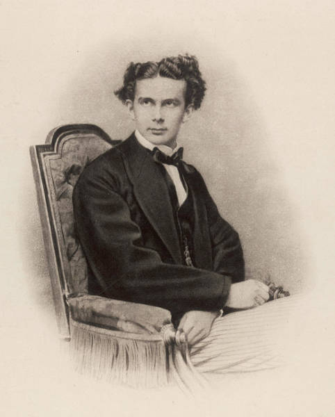 Wall Art - Photograph - King Ludwig II Of Bavaria  Reigned by Mary Evans Picture Library