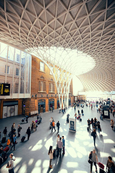 Wall Art - Photograph - Kings Cross Station London by Songquan Deng