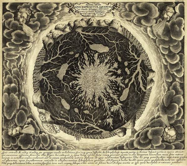 Wall Art - Photograph - Kircher's Subterranean Earth by Library Of Congress, Geography And Map Division/science Photo Library