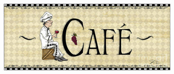 Mixed Media - Kitchen Sign-cafe by Shari Warren