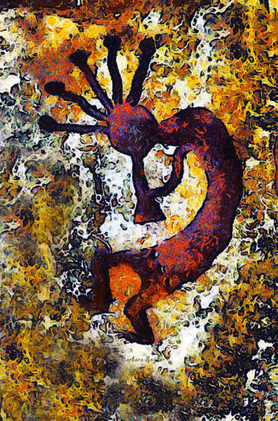 Wall Art - Digital Art - Kokopelli The Flute Player by Barbara Snyder