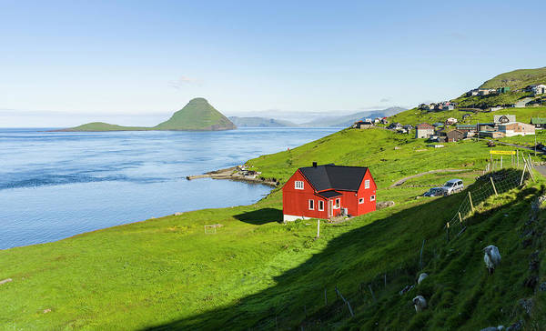 Faroe Island Wall Art - Photograph - Koltur Island At Sunrise, Village by Martin Zwick