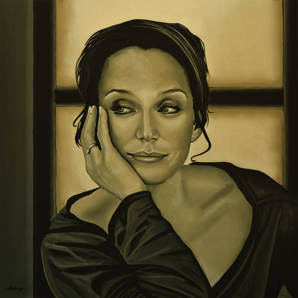 Mission Wall Art - Painting - Kristin Scott Thomas by Paul Meijering