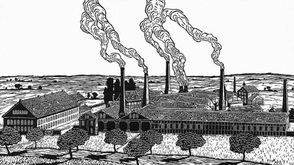 Steel Drawing - Krupp's Cast Steel Works          Date by Mary Evans Picture Library