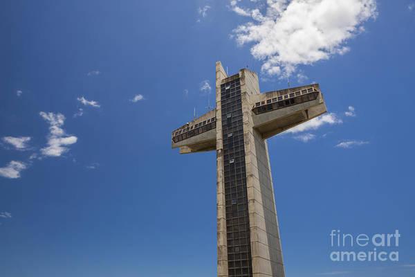 Photograph - La Cruz Del Vigia Against Blue Sky In Ponce Puerto Rico by Bryan Mullennix