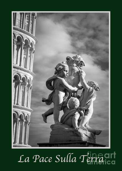 Photograph - La Pace Sulla Terra With Fountain Of Angels by Prints of Italy