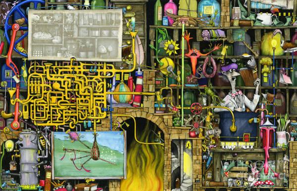Wall Art - Digital Art - Laboratory by MGL Meiklejohn Graphics Licensing