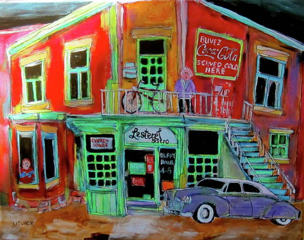 Montreal Canadiens Painting - Lachine Bistro by Michael Litvack