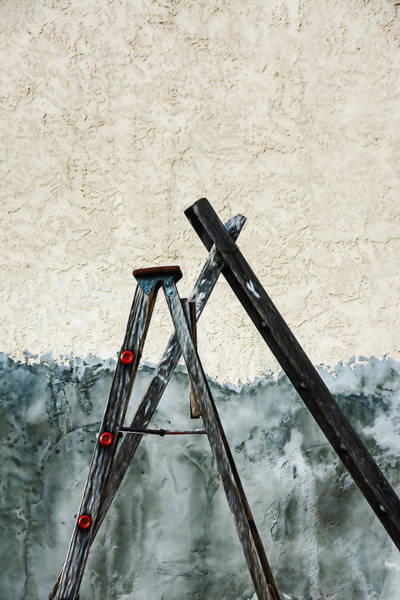 Rungs Wall Art - Mixed Media - Ladders by KM Corcoran
