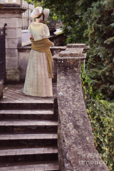 Wall Art - Photograph - Lady At The Top Of The Steps by Jill Battaglia