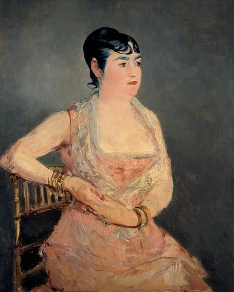 Wall Art - Painting - Lady In Pink by Edouard Manet