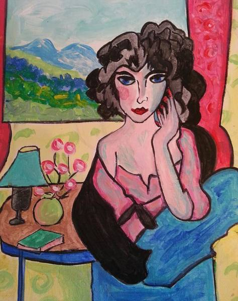 Painting - Lady With A View by Nikki Dalton