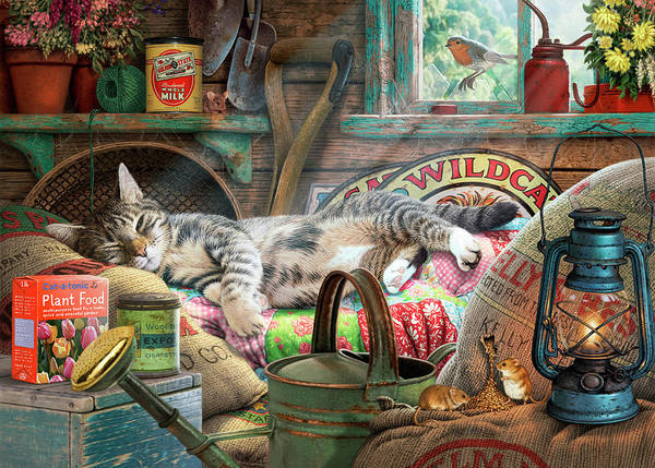 Wall Art - Painting - Laid Back Tom by MGL Meiklejohn Graphics Licensing