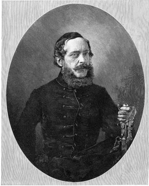 Wall Art - Drawing - Lajos Kossuth  Hungarian Patriot by Mary Evans Picture Library