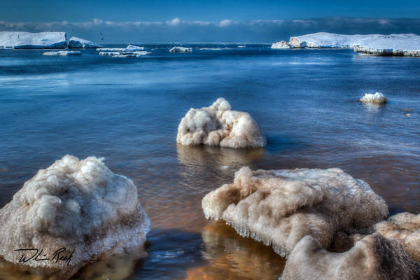 Photograph - Lake Michigan Bergs by William Reek