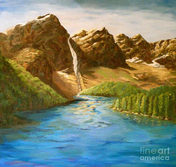 Painting - Lake Moraine by Patsy Walton
