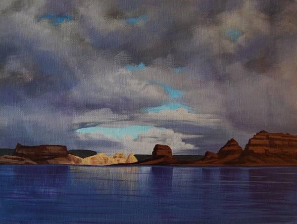 Lake Powell Storm Art Print
