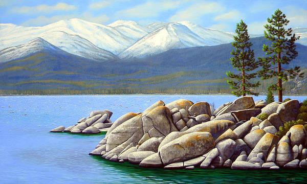 Painting - Lake Tahoe Sand Harbor by Frank Wilson