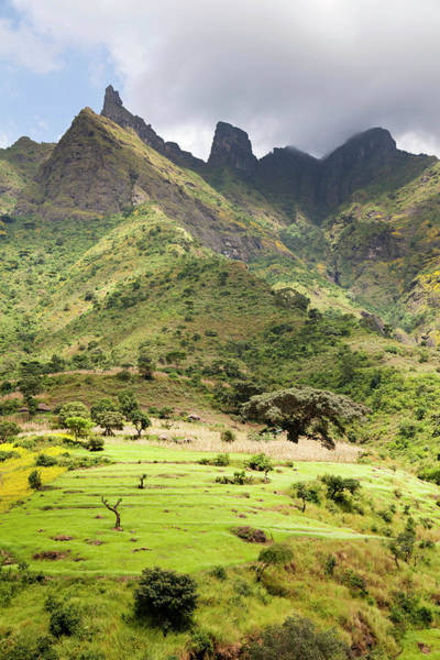 Amhara Photograph - Landscape Near The Escarpment by Martin Zwick