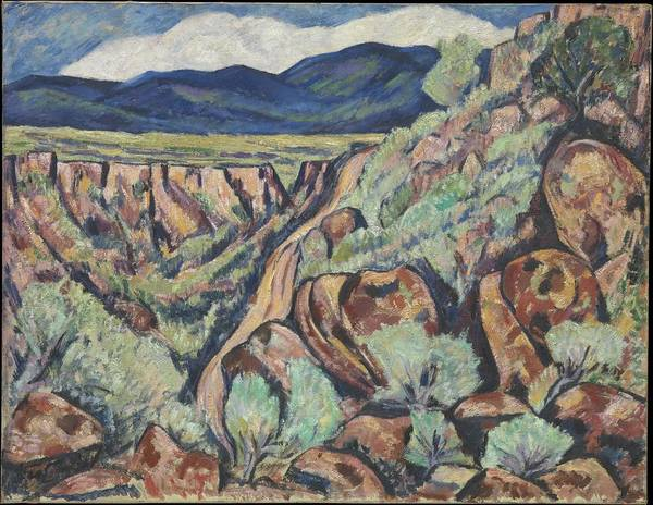 Central America Painting - Landscape, New Mexico by Marsden Hartley