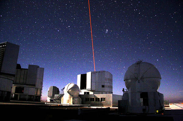 Facilities Photograph - Laser Guide Star For Very Large Telescope by European Southern Observatory/science Photo Library