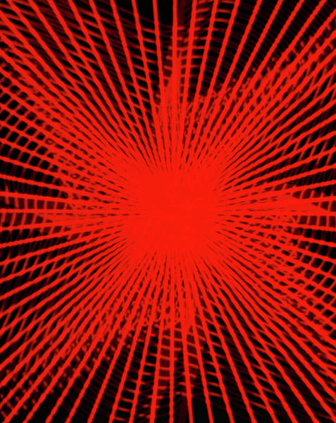 Laser Photograph - Laser Oscillogram Pattern by Alfred Pasieka/science Photo Library